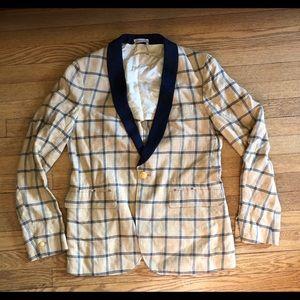 GANT NEW HAVEN THE SHAWLER PLAID BLAZER 48 Jacket